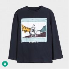 Mayoral-Тениска mountain с дълъг ръкав-Deep blue