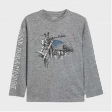 Mayoral-Тениска с дълъг ръкав и рисунка мотор-Метал вигоре