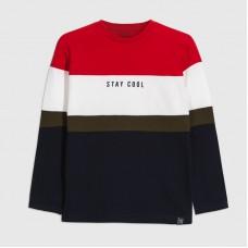 Mayoral-Тениска на райета с дълъг ръкав-момче