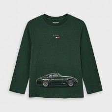 Mayoral-Тениска с дълъг ръкав и рисунка кола-Испанска ела
