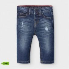 Mayoral-Дълъг дънков панталон с избелен и накъсан ефект