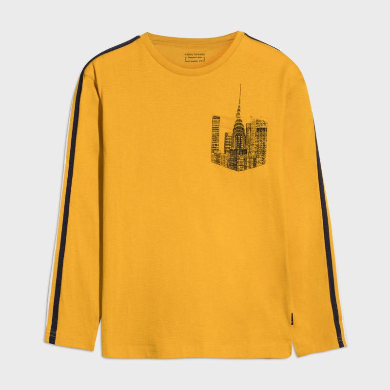 Mayoral-Тениска-дълъг ръкав и джобче за момче