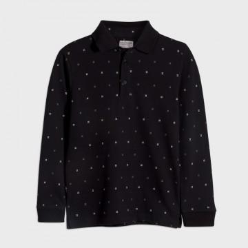 Mayoral-Блуза дълъг ръкав с  якичка и щампи