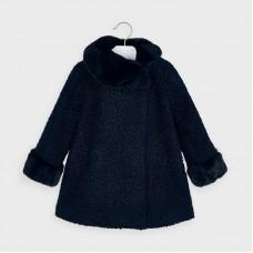 Mayoral-Зимно  палто с къдрав косъм