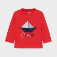 Mayoral-Тениска къс ръкав  с принт лодка
