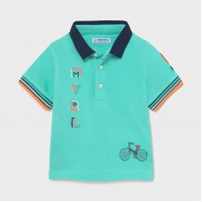 Mayoral-Поло тениска къс ръкав бродерии