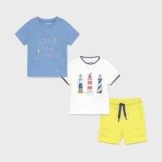 Mayoral-Трикотажен комплект 3 части за бебе момче