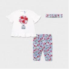 Maсyoral-Комплект с клин трико деним за бебе момиче