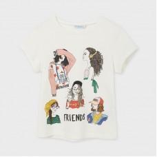 Mayoral-Тениска с къс ръкав и графика за момиче