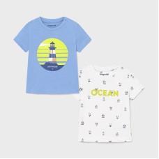 Mayoral-Тениска къс ръкав и принт OCEAN