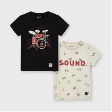 Mayoral-Тениска за момче  къс ръкав принт барабани