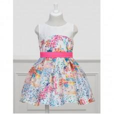 Mayoral-Официална рокля с цветен принт Abel & Lula