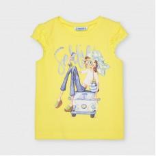 Mayoral- Тениска къс ръкав и рисунка момиче