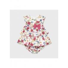 Mayoral-Бебешка рокля с къс ръкав и волани