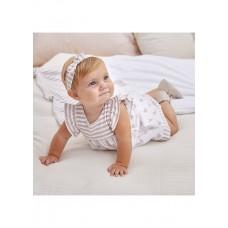 Mayoral-Бебешка трикотажна рокля с лента за глава