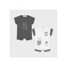 Mayoral-Бебешки къс гащиризон с предно закопчаване щампи и джобче