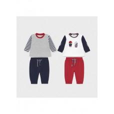 Mayoral-Трикотажен комплект от 4 части-новородено момче