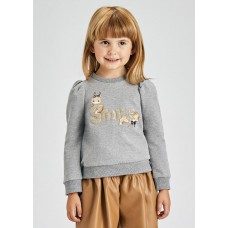 Mayoral-Пуловер буква пайети
