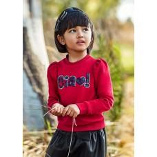 Mayoral-Пуловер буква пайети за момиче