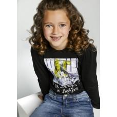 Mayoral-Тениска  дълъг ръкав за момиче с къдрички