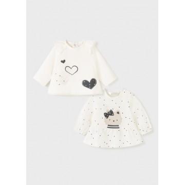 Mayoral- Бебешка блузка с щампа сърца