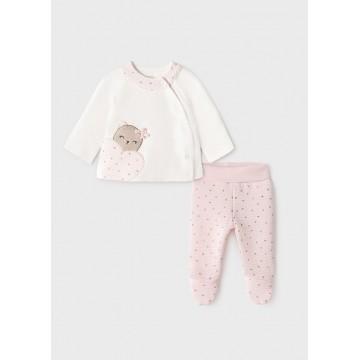 Mayoral-Комплект  с ританки за бебе момиче ватиран
