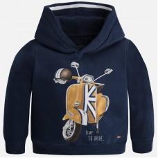 Mayoral--Памучен пуловер с принт мотор