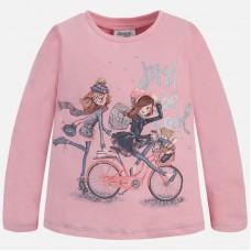 Mayoral-Блуза с  принт момичета с колело