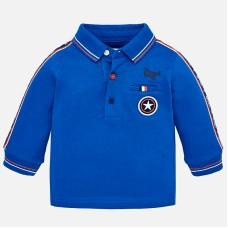Mayoral-Блуза с яка и контрастни ленти