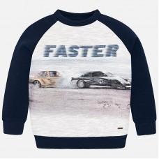 Mayoral-Ватирана блуза с принт автомобили