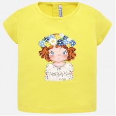 Mayoral-Тениска с принт-момиче с цветен венец