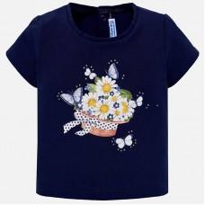 Mayoral-Тениска с принт цветя и пеперуди