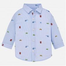 Mayoral-Риза дълъг ръкав с принт превозни средства