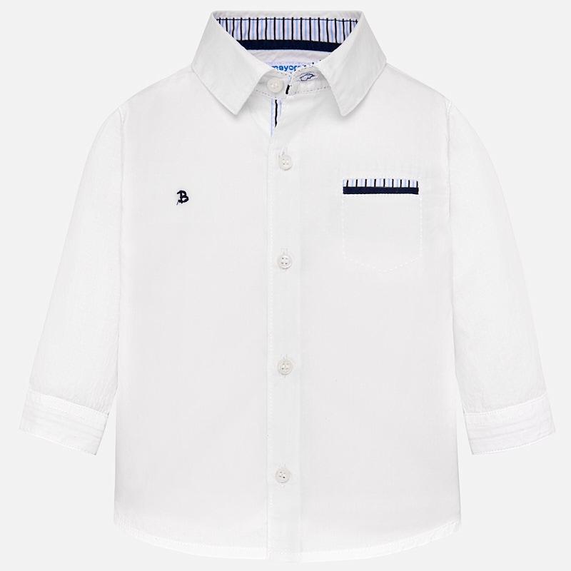Mayoral-Риза дълъг ръкав с детайл на джобчето