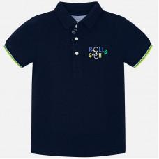Mayoral-Тениска с яка и принт велосипед