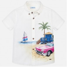 Mayoral-Риза къс ръкав с принт морски пейзаж