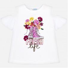 Mayoral-Тениска с принт кецове с цветя