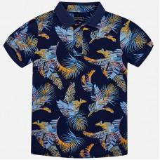 Mayoral-Блуза с яка и цветна щампа