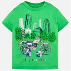 Mayoral-Тениска с цветен принт и надпис CITY COLORS