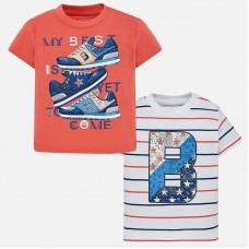 Mayoral-Тениска райе с цветна буква В
