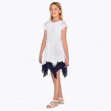 Mayoral-Двуцветна асиметрична рокля