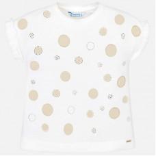 Mayoral-Тениска с принт златни точки