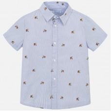 Mayoral-Риза къс ръкав с щампа скутери