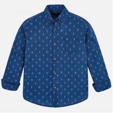 Mayoral-Риза дълъг ръкав лен с щампа