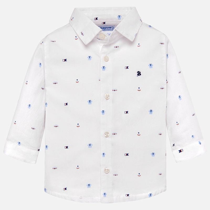 Mayoral-Риза дълъг ръкав с принт морски мотиви