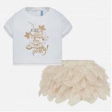 Mayoral-Комплект блуза с пола тюл
