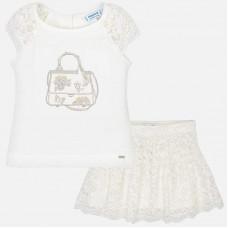 Mayoral-Комплект блуза с пола дантела