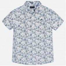 Mayoral-Риза къс ръкав с принт листа