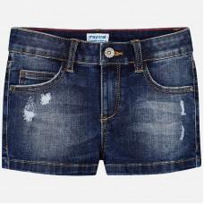Mayoral-Къси дънкови панталони с прокъсан ефект