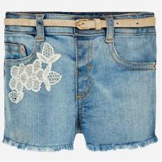 Mayoral-Къси дънкови панталони с бродерия